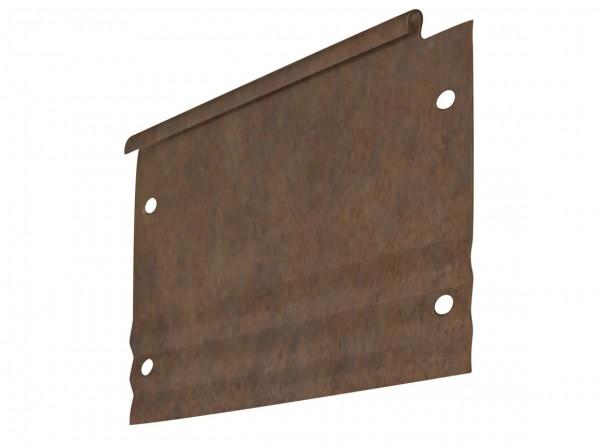 Rasenkante aus Antikstahl, PRO-Serie, Längsprofil 240 cm, Höhe 15 cm