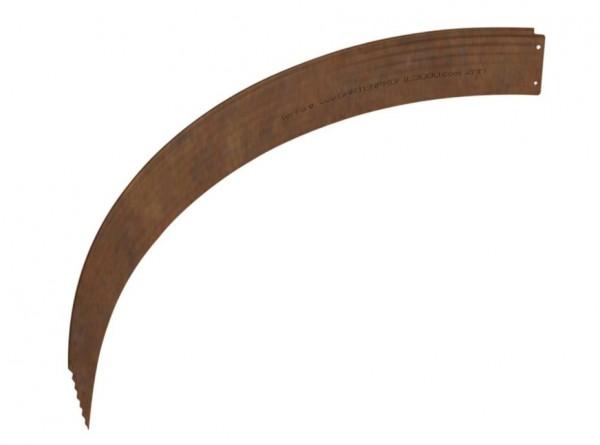 Rasenkante aus Antikstahl, Viertelrundprofil für Ø 150 cm, Höhe 15 cm