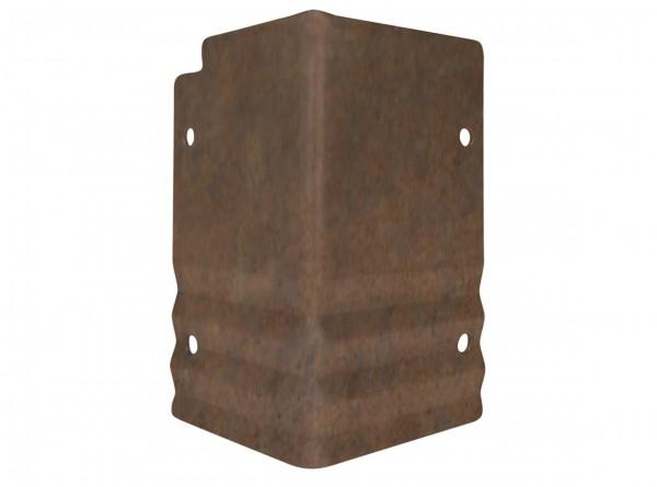 Rasenkante aus Antikstahl, PRO-Serie, Eckverbinder, Aussenecke 90°, Höhe 15 cm