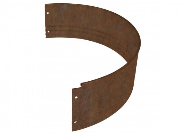 Rasenkante aus Antikstahl, PRO-Serie, Halbrundprofil für Ø 75 cm, Höhe 15 cm