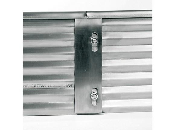 Verbindungsplatte 15 x 5 cm, Edelstahl, für Profilhöhe 15, 20 oder 30 cm