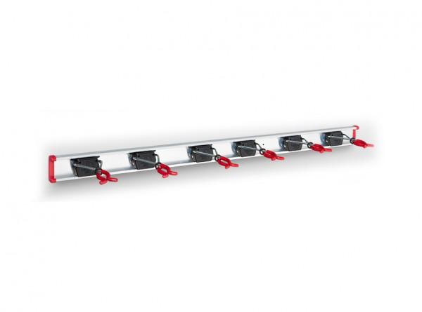 6 Bruns-Gerätehalter auf 1,0 m Führungsschiene