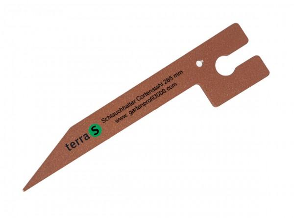 Schlauchhalter 26,5 cm Antikstahl, 10 Stück