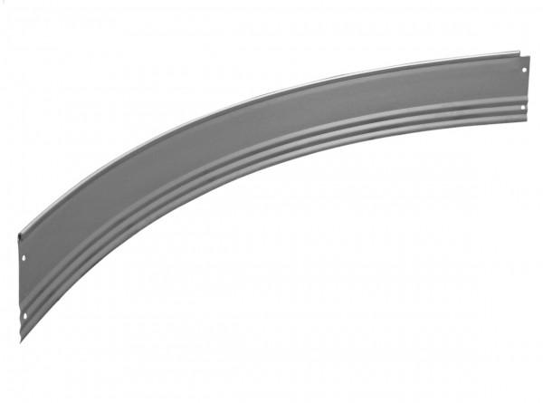 Rasenkante aus verzinktem Stahl, PRO-Serie, Viertelrundprofil für Ø 150 cm, Höhe 15 cm