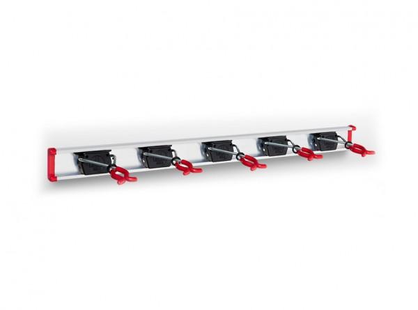 5 Bruns-Gerätehalter auf 0,75 m Führungsschiene
