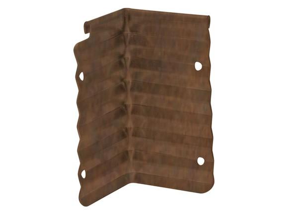 Rasenkante aus Antikstahl, Eckverbinder, Innenecke 90°, Höhe 10 cm