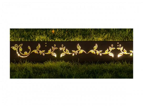 """Lichtprofil Antikstahl, """"Ranken"""", Länge 240 cm, Höhe 20 cm"""