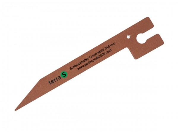 Schlauchhalter 34,5 cm Antikstahl, 10 Stück