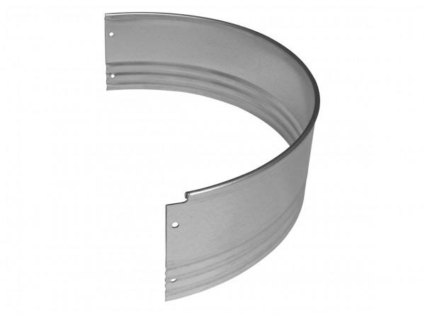 Rasenkante aus verzinktem Stahl, PRO-Serie, Halbrundprofil für Ø 115 cm, Höhe 15 cm