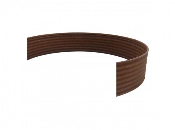 Rasenkante aus Antikstahl, Halbrundprofil für Ø 50 cm, Höhe 15 cm