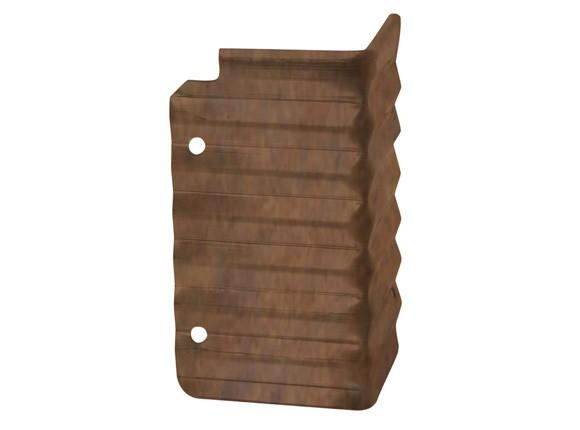 Rasenkante aus Antikstahl, Eckverbinder, Aussenecke 90°, Höhe 15 cm